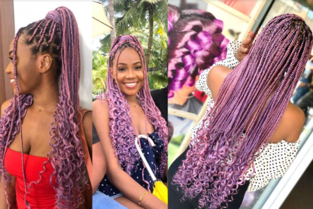 color braids hairstyles